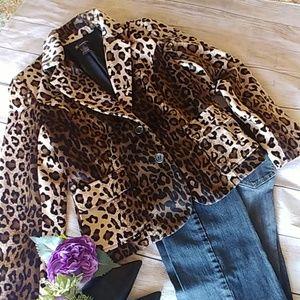 INC Leopard Print Blazer (Faux fur)